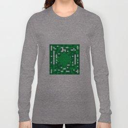 Green Gridlock Long Sleeve T-shirt