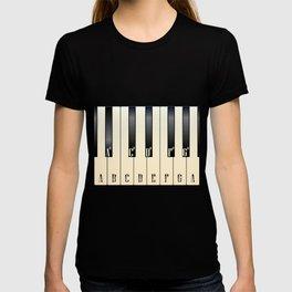 Piano Keys Note Names T-shirt