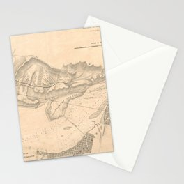 Vintage Map of The Potomac River (1838) Stationery Cards