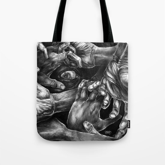 Getting Handsy (smothering, groping, hands) Tote Bag
