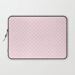 Large Light Soft Pastel Pink Love Hearts Laptop Sleeve
