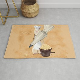 Ferret and Frosting Rug