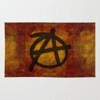 anarchy Area & Throw Rugs featuring Anarchy by BruceStanfieldArtist.DarkSide