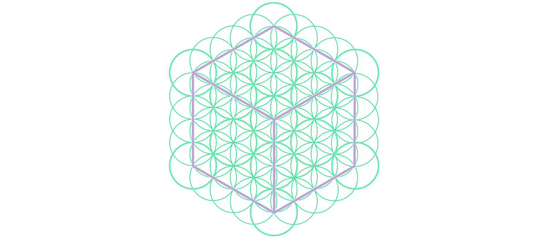 Sacred Geometry - glowing energy lines - cube and flowers Coffee Mug