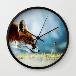 Close Encounters of Fox Kind Wall Clock