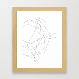 lines geometric Framed Art Print