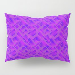 Stylish design with interlaced circles and violet rectangles of stripes. Pillow Sham