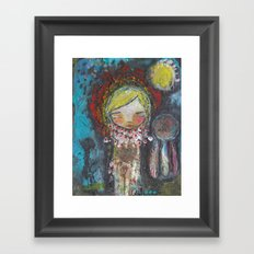 Sending Strength Framed Art Print