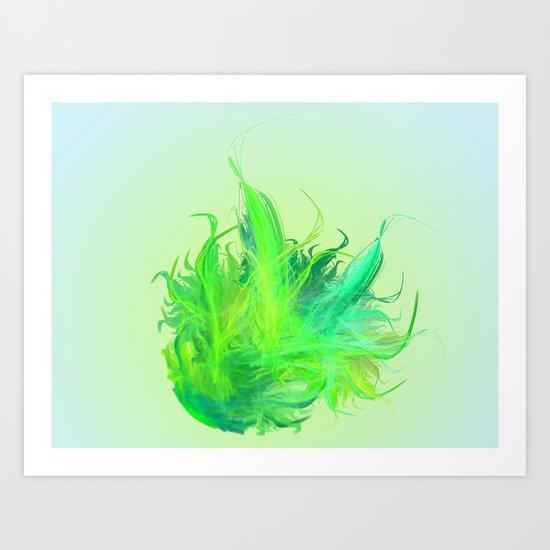 green work - we love  vegan Art Print