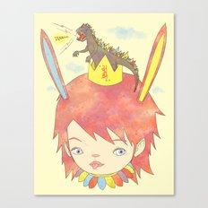 CROWN NEST - GOZILLA KING 고질라킹 Canvas Print