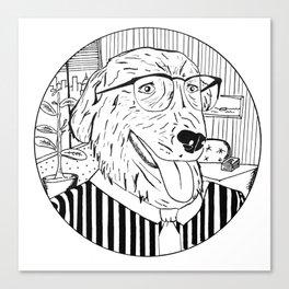Wall Street Dog Canvas Print