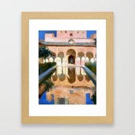 Joaquin Sorolla y Bastida Hall of the Ambassadors, Alhambra, Granada Framed Art Print