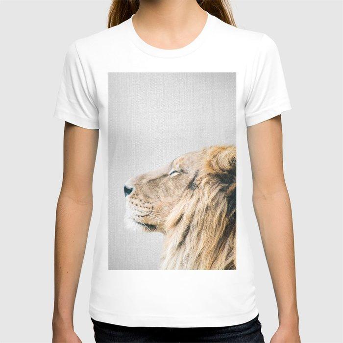 Lion Portrait - Colorful T-shirt