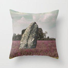 wild whale wood flower Throw Pillow