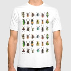 The Beetles  White X-LARGE Mens Fitted Tee