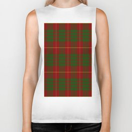 Cameron Red & Green Tartan Pattern #2 Biker Tank