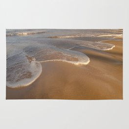 Gentle Waves on Beach Rug