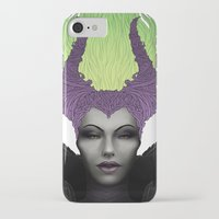 maleficent iPhone & iPod Cases featuring Maleficent by clayscence