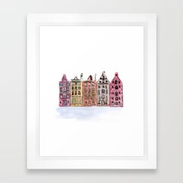 Coloured Houses Framed Art Print