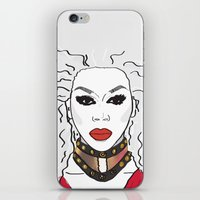 rupaul iPhone & iPod Skins featuring We're born naked, the rest is drag by LucyMatch