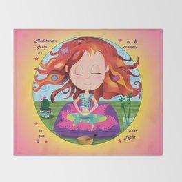 Meditation Om Zen Throw Blanket