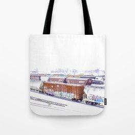 Cold Trains Tote Bag