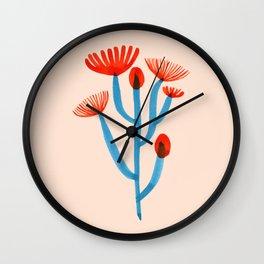 Blooming Cactus Wall Clock