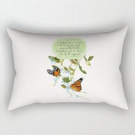 ten times as long Rectangular Pillow