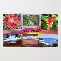 hawaii Area & Throw Rugs featuring Hawaii by Art-Motiva