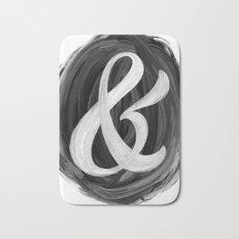 Thick Swirl Ampersand Black & White Bath Mat