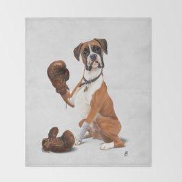 The Boxer (Wordless) Throw Blanket