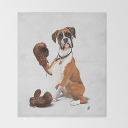 The Boxer (Wordless) Throw Blanket