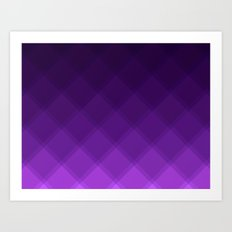 Grape Tile Pattern Art Print