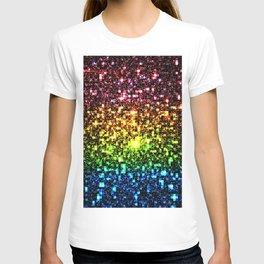 Geometric Galaxy Stars : Rainbow T-shirt