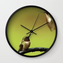 Two Hummingbirds Wall Clock