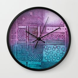Cityscape 2 Wall Clock