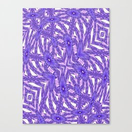 Ultra Violet In My Garden Canvas Print