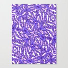 Ultra Violet In My Garden Canvas Print