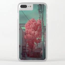 Infrapink 01 Clear iPhone Case