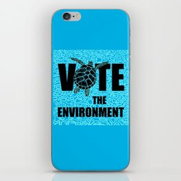 Actions Speak Louder - Sea Turtle design for the Vote the Environment Campaign, Black Dwarf Designs iPhone Skin
