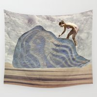 avatar Wall Tapestries featuring Rebuilding Avatar on the Beach by Menchulica