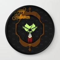 dracula Wall Clocks featuring Dracula by Lalu