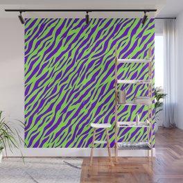 Vintage Retro 1980s 80s New Wave Zebra Stripe Pattern Wall Mural