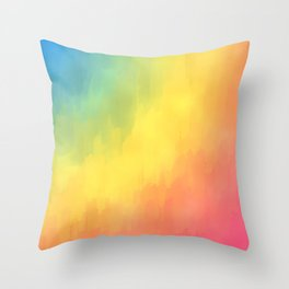 Watercolors Fun Throw Pillow