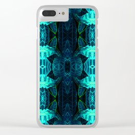 Psychedelic Kaleidoscope Leaf Pattern Clear iPhone Case