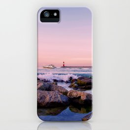 Water landscape in the evening light iPhone Case