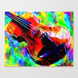 Violin Abstract Canvas Print
