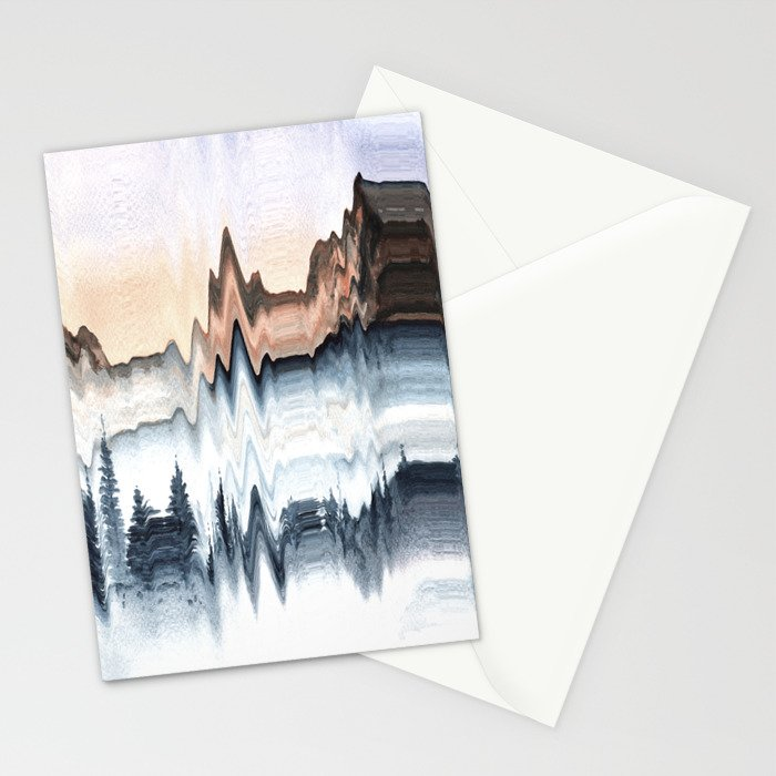 A Mountain in Winter Stationery Cards