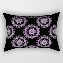 Ethnic mandalas in purple Rectangular Pillow
