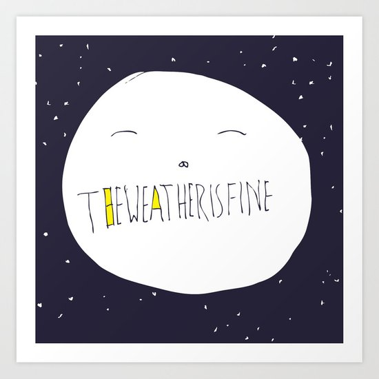 bright side of the moon  Art Print